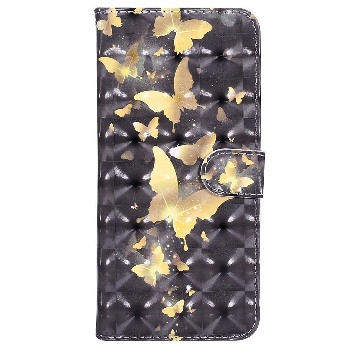 Coque Samsung Galaxy J3/J3 2016, Ysimee Housse Étui à Rabat pour Galaxy J3/J3 2016 Fermeture Magnétique Portefeuille en Cuir 3d avec Porte Carte Fonction Support Téléphone Couverture,Fleur en Dentelle