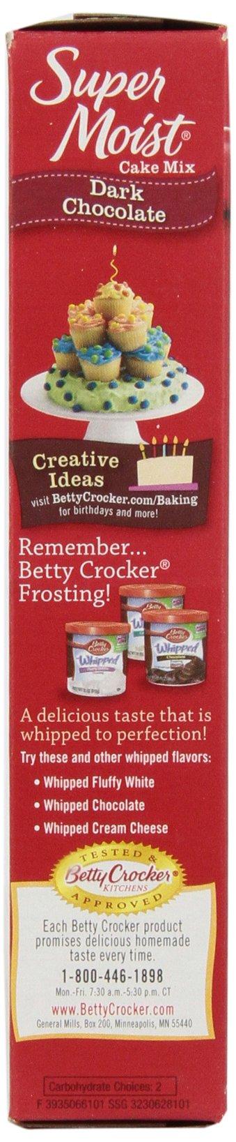 Betty Crocker Super Moist Cake Mix Dark Chocolate 15.25 oz Box (pack of 6) by Betty Crocker (Image #6)