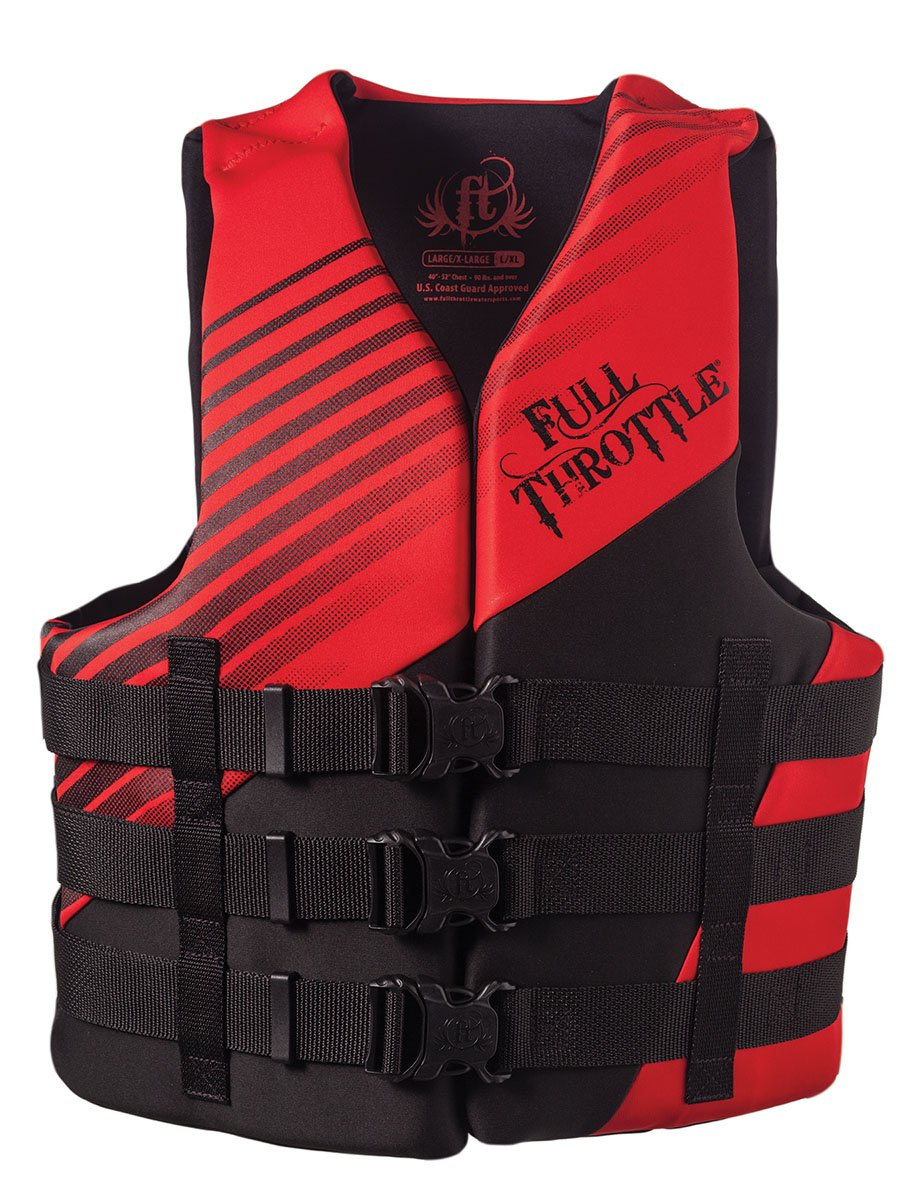 Full Throttle Adult Dual Sized Rapid Dry Life Vest, Red, XX-Large/4X-Large 142000-100-080-14