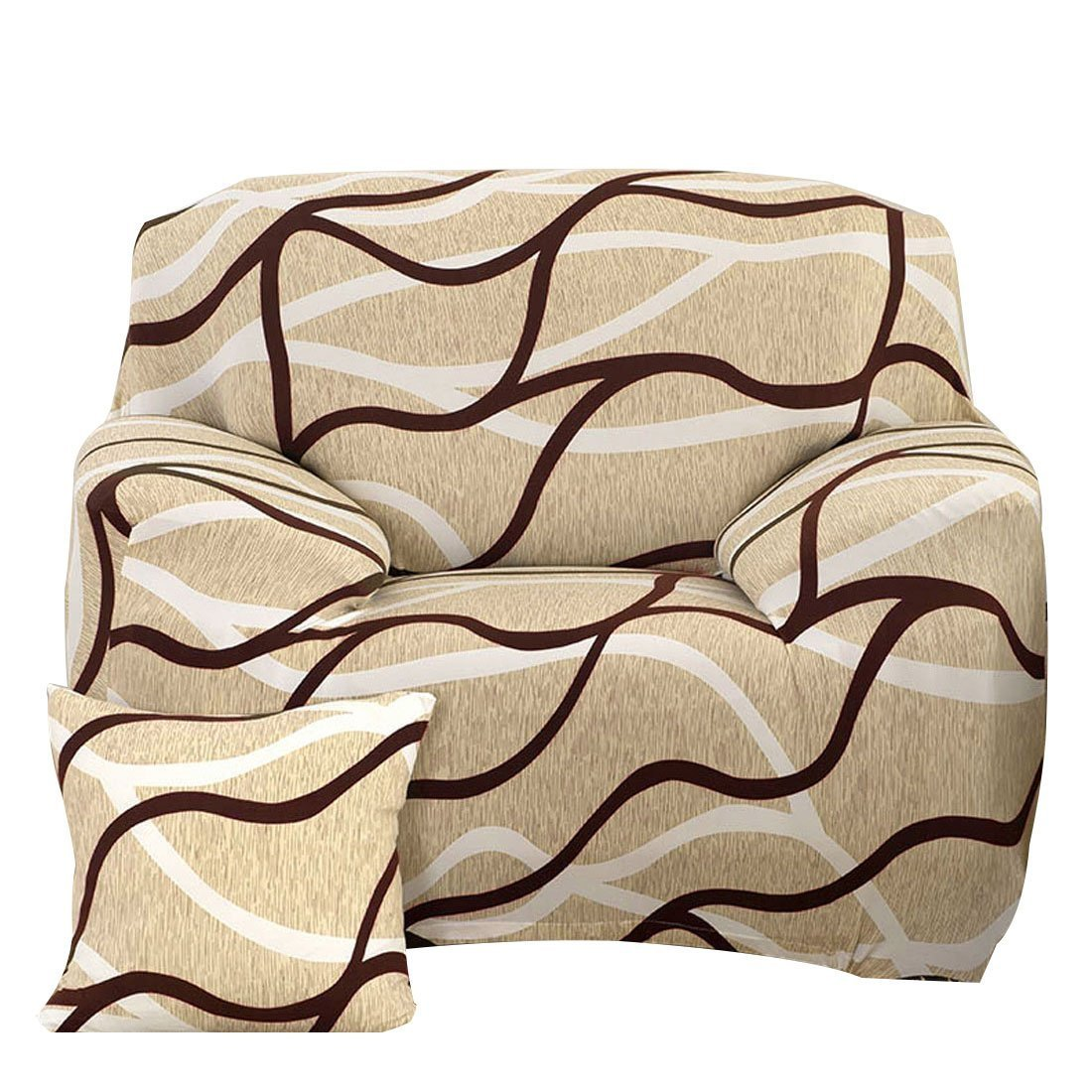 Amazon: Fanjow Easy Fit Stretch Sofa Slipcover Sofa Covers Couch Covers  Seat Protectors Elastic Chair Slipcover Polyester Spandex Fabric Slipcover