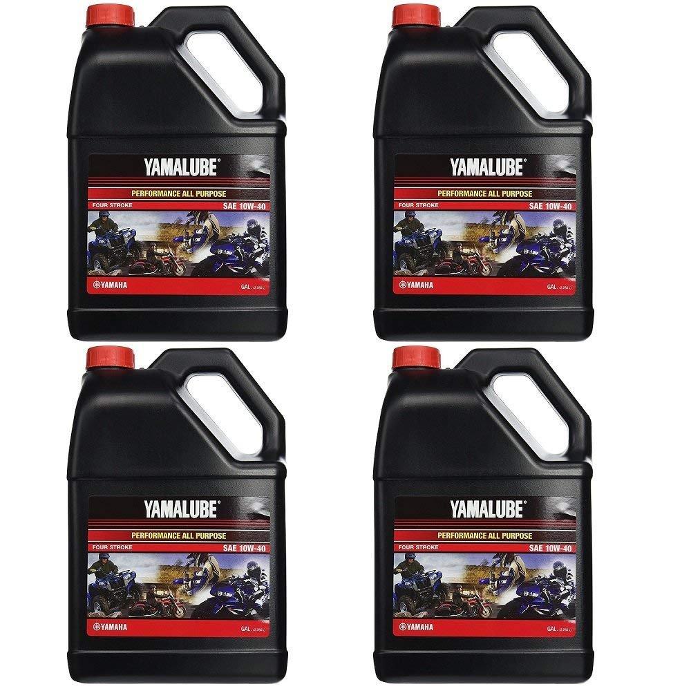 Yamalube All Purpose 4 Four Stroke Oil 10w-40 1 Gallon (4 Gallons) by YamaLube All Purpose (Image #1)