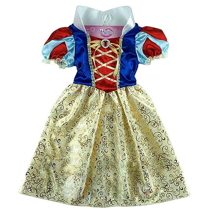 IBaste-vestido para niña, diseño de princesa con mango corto cosplay pricesse désignement vestido
