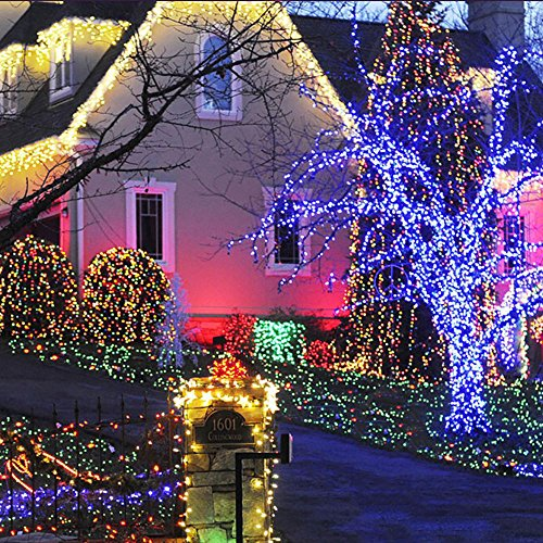 LED String Lights Solar Christmas Lights 39ft 100 LED 8 Modes ...