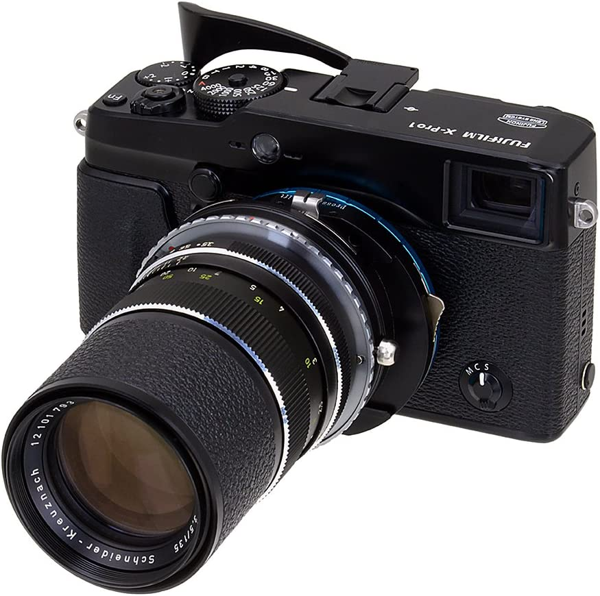 X-E1 Not EF-s X-Mount Fotodiox Pro Lens Mount Adapter with Iris Lens to Fujifilm X Camera Body Canon EOS EF for Fujifilm X-Pro1