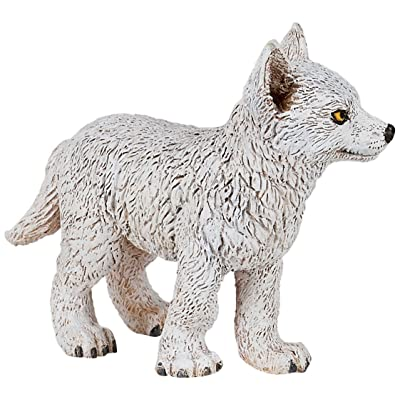 Papo Young Polar Wolf Figure, Multicolor: Toys & Games
