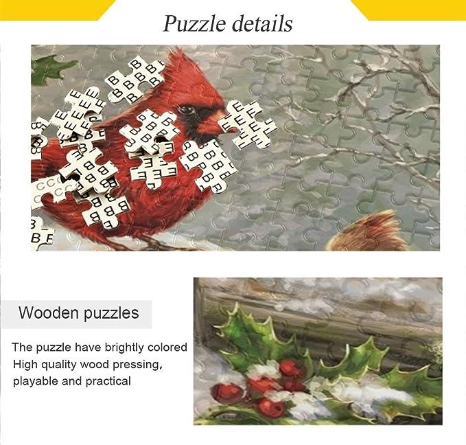 Vdsrup Winter Snowflakes Cardinal Christmas Jigsaw Puzzles Xmas ...