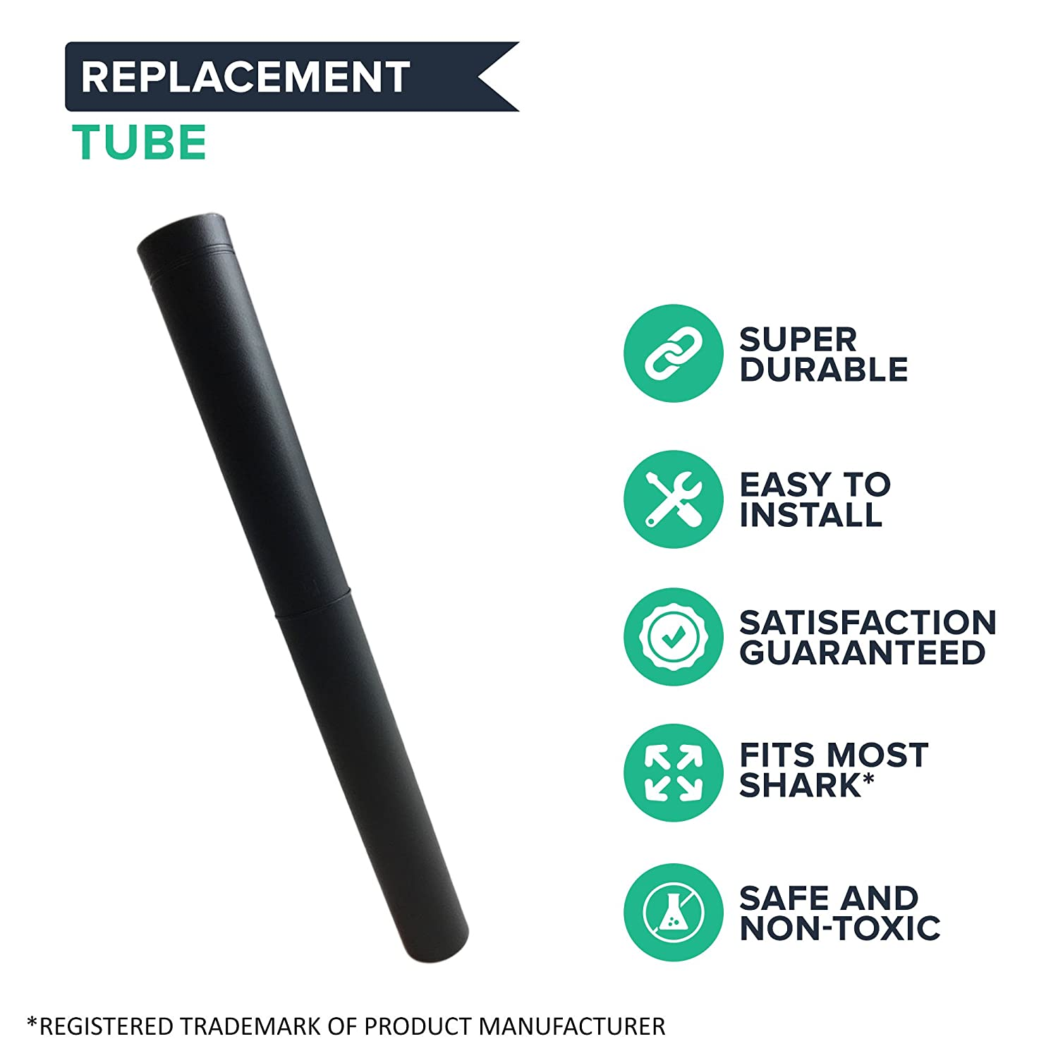 Think Crucial Replacement for Shark Navigator 16 Extend Reach Tube Compatible with Part # 114FFJ