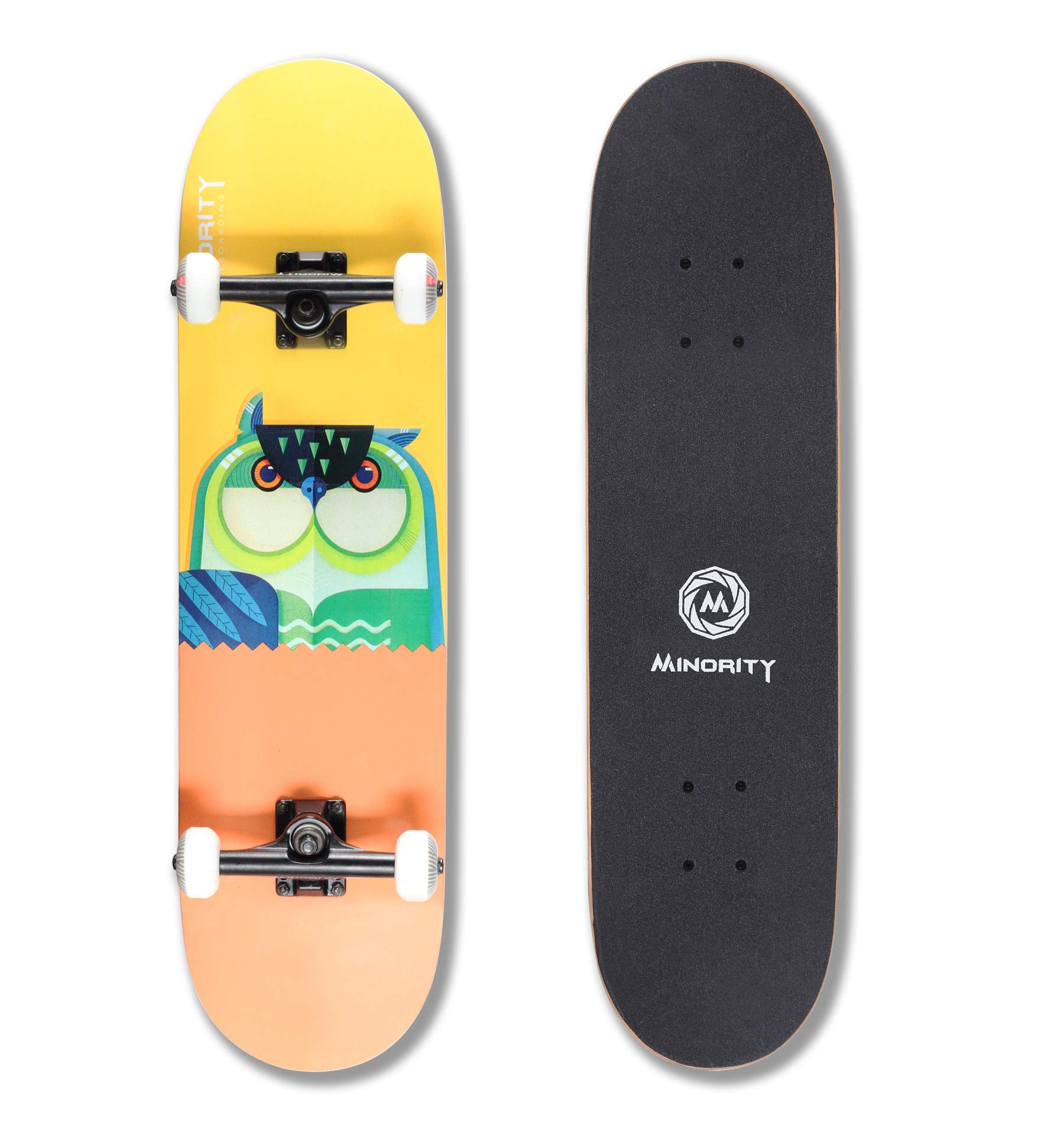 MINORITY 32inch Maple Skateboard (Owl) by MINORITY