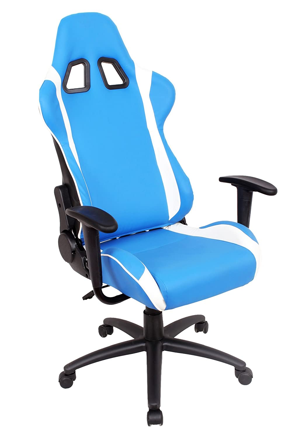 lounge office chair. Amazon.com: EZ Lounge Racing Car Seat Modern Office Chair, Blue/White: Kitchen \u0026 Dining Chair