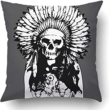 Amazon com: Staropor Throw Pillow Covers Brown Native Indian Evil