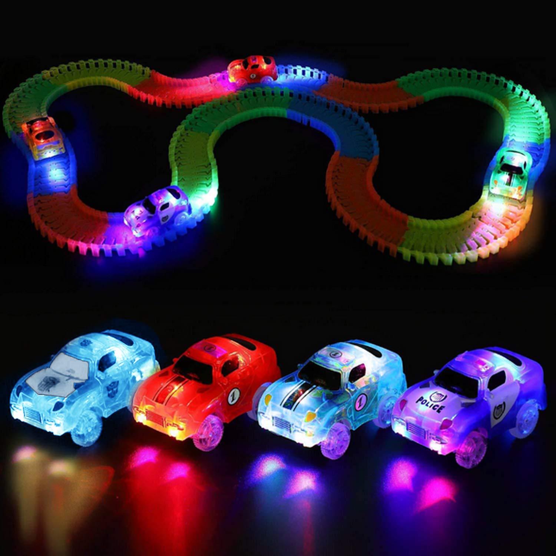 4 UNIDS Surtido de Coches El/éctricos de Pista de Estilo con 5-LED Destellos Destornillador para Ni/ños Ni/ños Cumplea/ños Festival