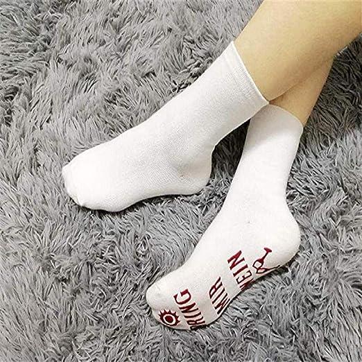 SHOBDW Mujeres Hombres Unisex Moda Casual Lindo Divertido Novedad Calcetines Largos de Algodón Amantes del Vino Navidad Día de San Valentín Regalo para ...