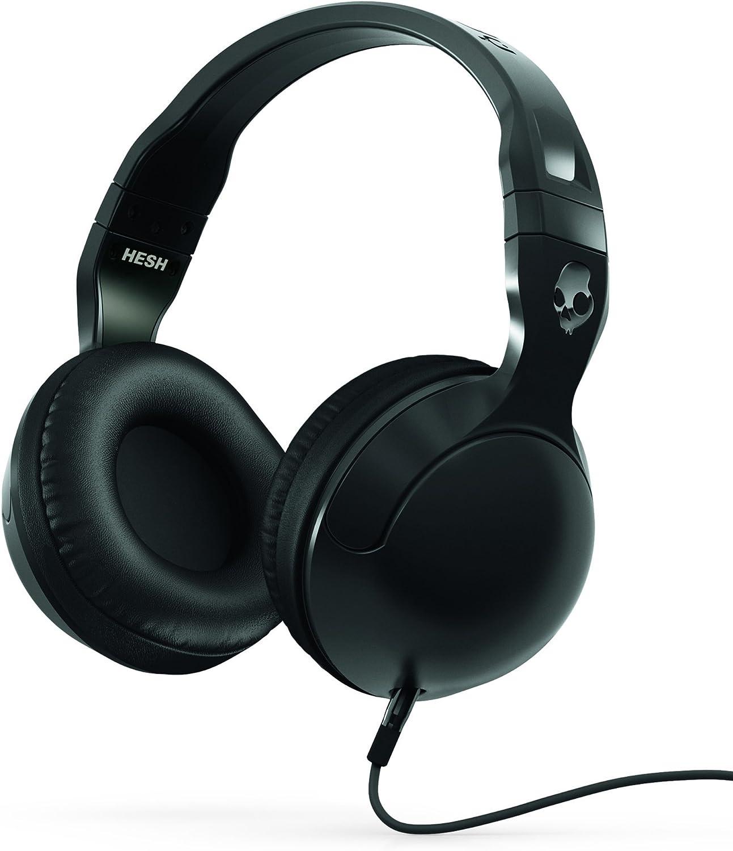 Skullcandy Hesh 2 Over-Ear Headphones with Mic, Black (Renewed)
