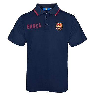 FC Barcelona - Polo oficial para niño - Con el escudo del club - Azul - 8b6cb1ce5bbf9
