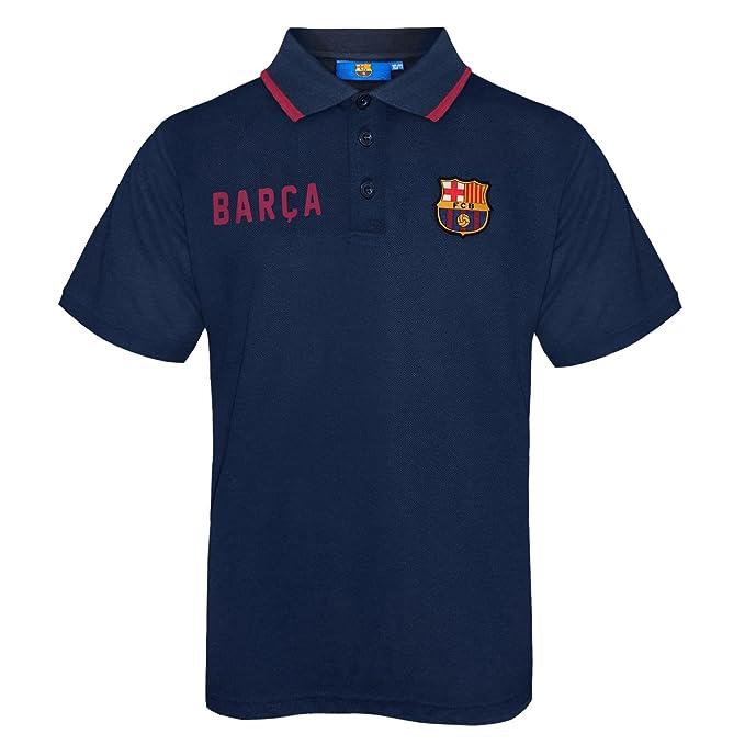FC Barcelona - Polo oficial para niño - Con el escudo del club - Azul   Amazon.es  Ropa y accesorios 49f5dd139ed