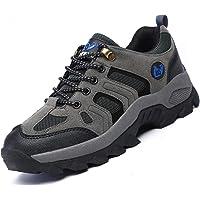 Brfash Zapatos de Senderismo para Hombre Zapatos de Montaña Impermeables Antideslizantes Escalada Zapatos de High Cut…
