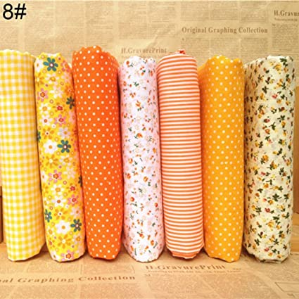 Juego de 7 piezas de tela de algodón para manualidades, patchwork, costura, álbumes