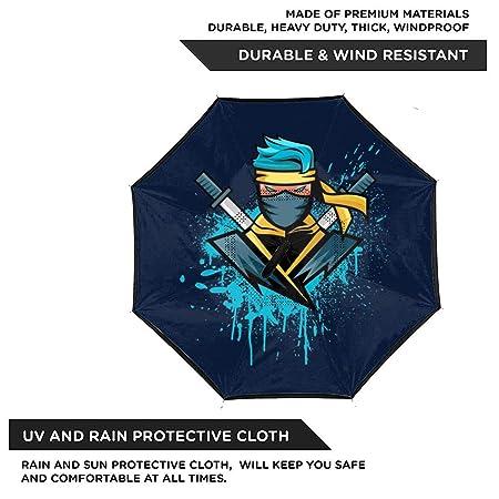 Gamer Ninja Ninja Hyper - Paraguas invertido de Doble Capa ...