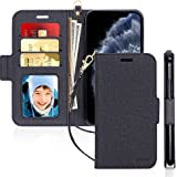 """Skycase iPhone 11 Pro Case 5.8"""",[RFID Blocking] Handmade Flip Folio Wallet Case with Card Slots and Detachable Hand Strap for"""