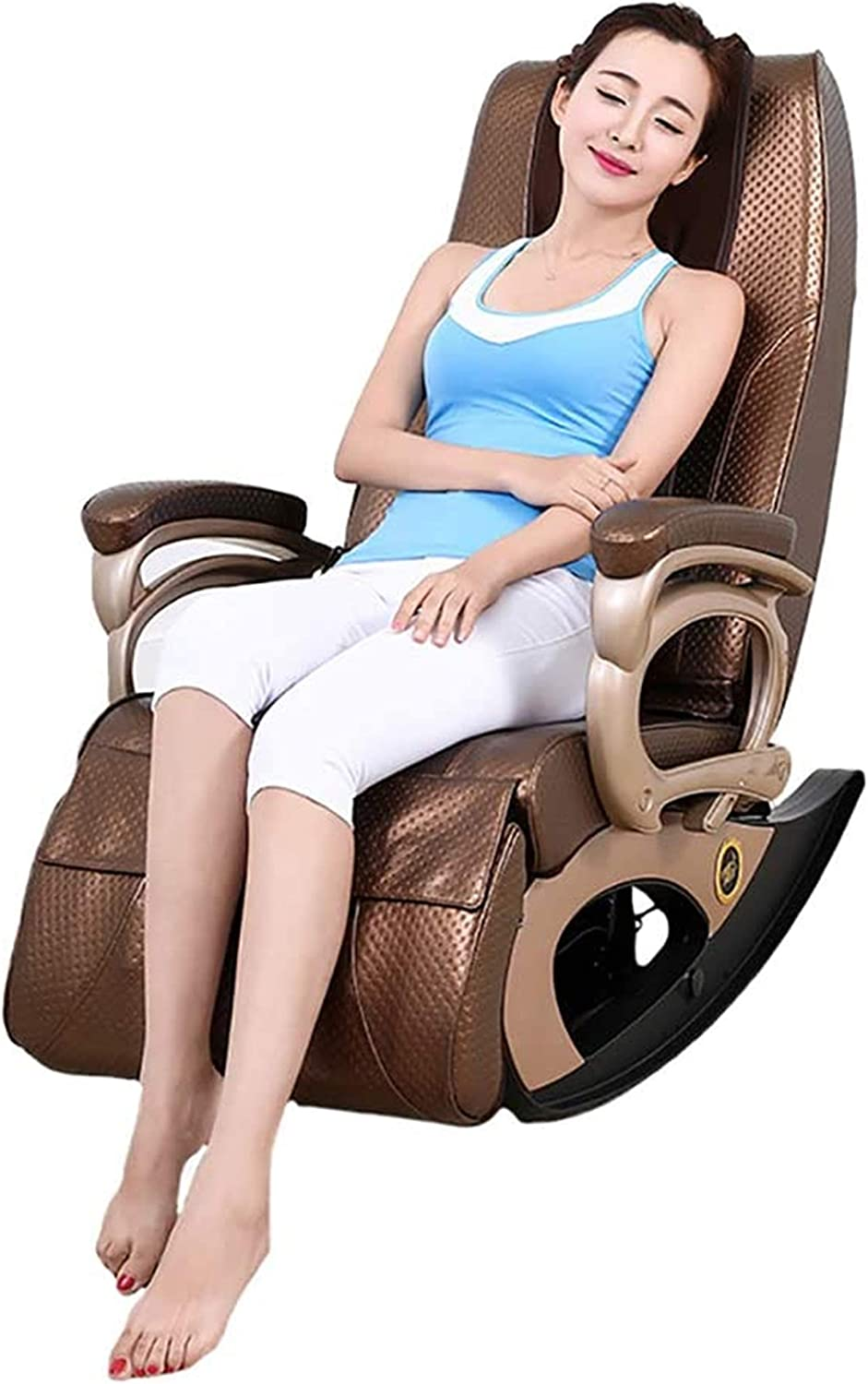 Smart massage chair, Home Multi-Function Sofa ir Cervical Vertebra Health Massager, Suitable For Legs, Neck, Head, Back Rocking Heating Function-outdoor patio leisure comfortable ,Adult massage chair