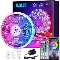 Tiras LED Wifi, JESLED 5M Tira de LED RGB Compatible con Alexa, Google Home, App, LED Tira Luz Sincronización de Música…