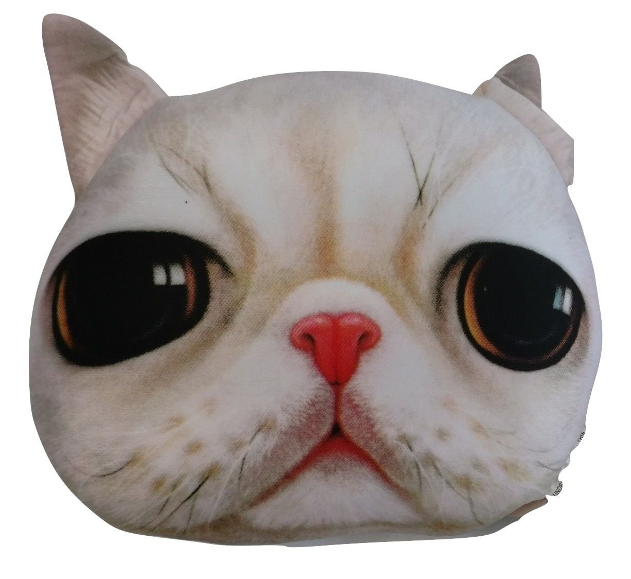Tache Cute Cuddly Squishy White Persian Kitty Cat Microbead Realistic Decorative Animal Pet Lover Toss Cushion Throw Pillow