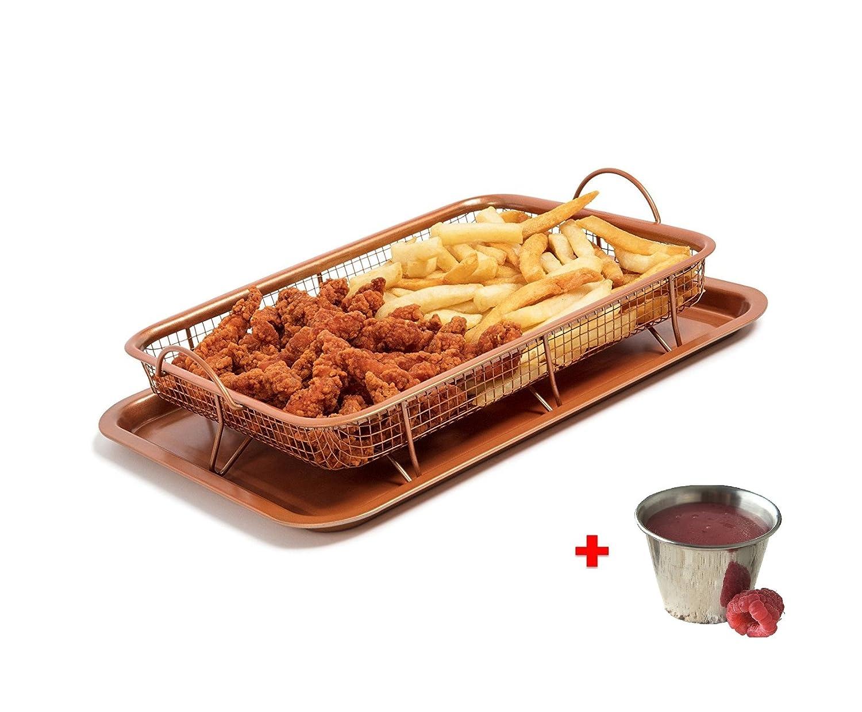 ... crujiente saludable cocina eléctrica multiusos para la cocina para horno, hornillo, o parrilla con Bono Salsa taza: Amazon.es: Hogar