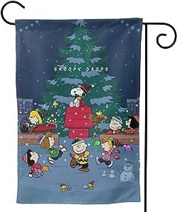 Stockdale Snoopy Christmas Tree Garden Flag Winter Outdoor Decoration Welcom Flag
