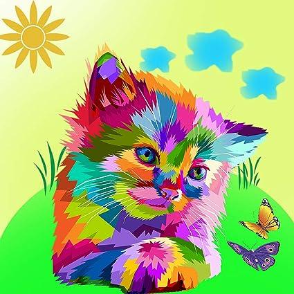 Acrylic Painting Home Decor Butterfly DIY Paint by Number Kit Pets paints by number DIY kit Cat Art Design Decor Unique Design