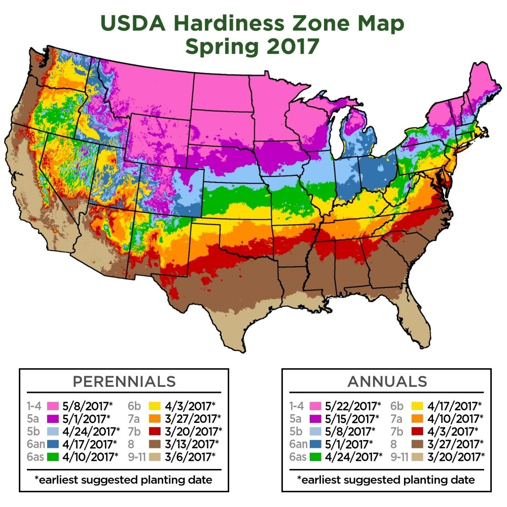 Usda Garden Zones Observed And Projected Changes In Plant