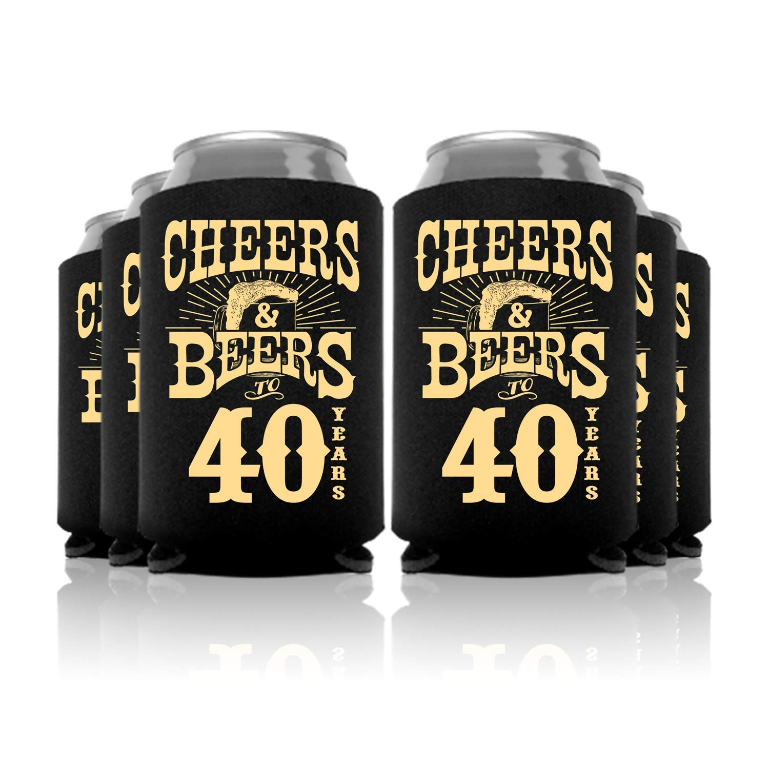 Cheers and Beers to 40 Years Birthday Can Coolers Party Favor 48 Pc