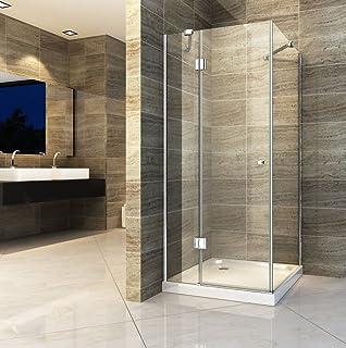 Frisch Duschkabine 100x100 cm mit Seiteneinstieg aus ESG Nano Glas und  JD56