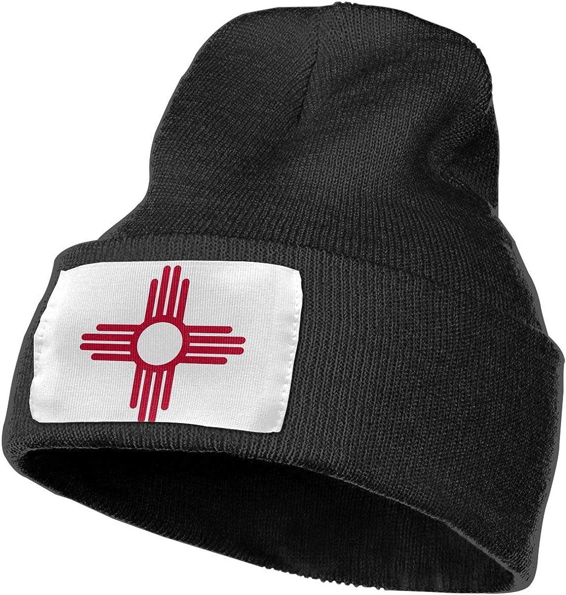 New Mexico State Flag Beanie Skull Cap Stylish Knit Beanie Hats Plain Winter Hats for Men Women Daily