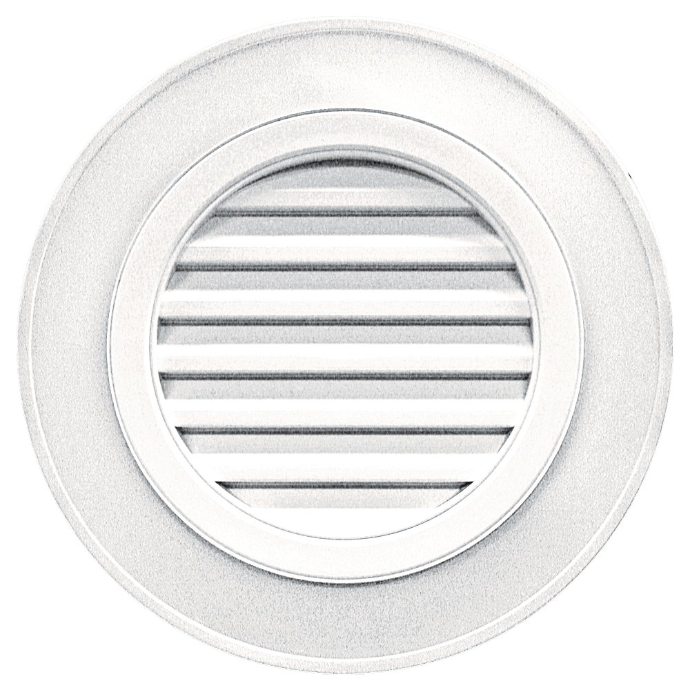 Builders Edge 120032828117 28'' Round Vent Designer without Keystones 117, Bright White