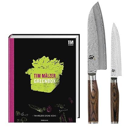 Compra Kai TDM-W12 - Juego de 2 cuchillos y libro de cocina ...