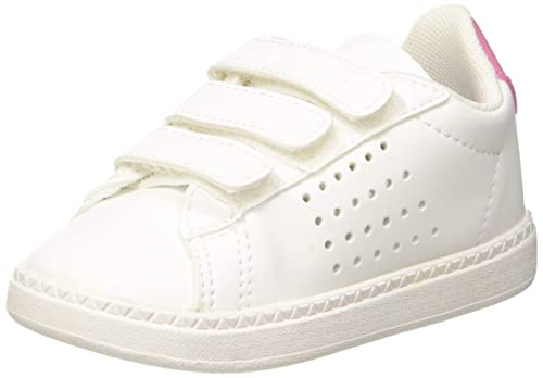 00b72b3f47 LE COQ SPORTIF Courtset INF Sport Girl pi, Baskets Bébé Fille, Blanc  (Optical
