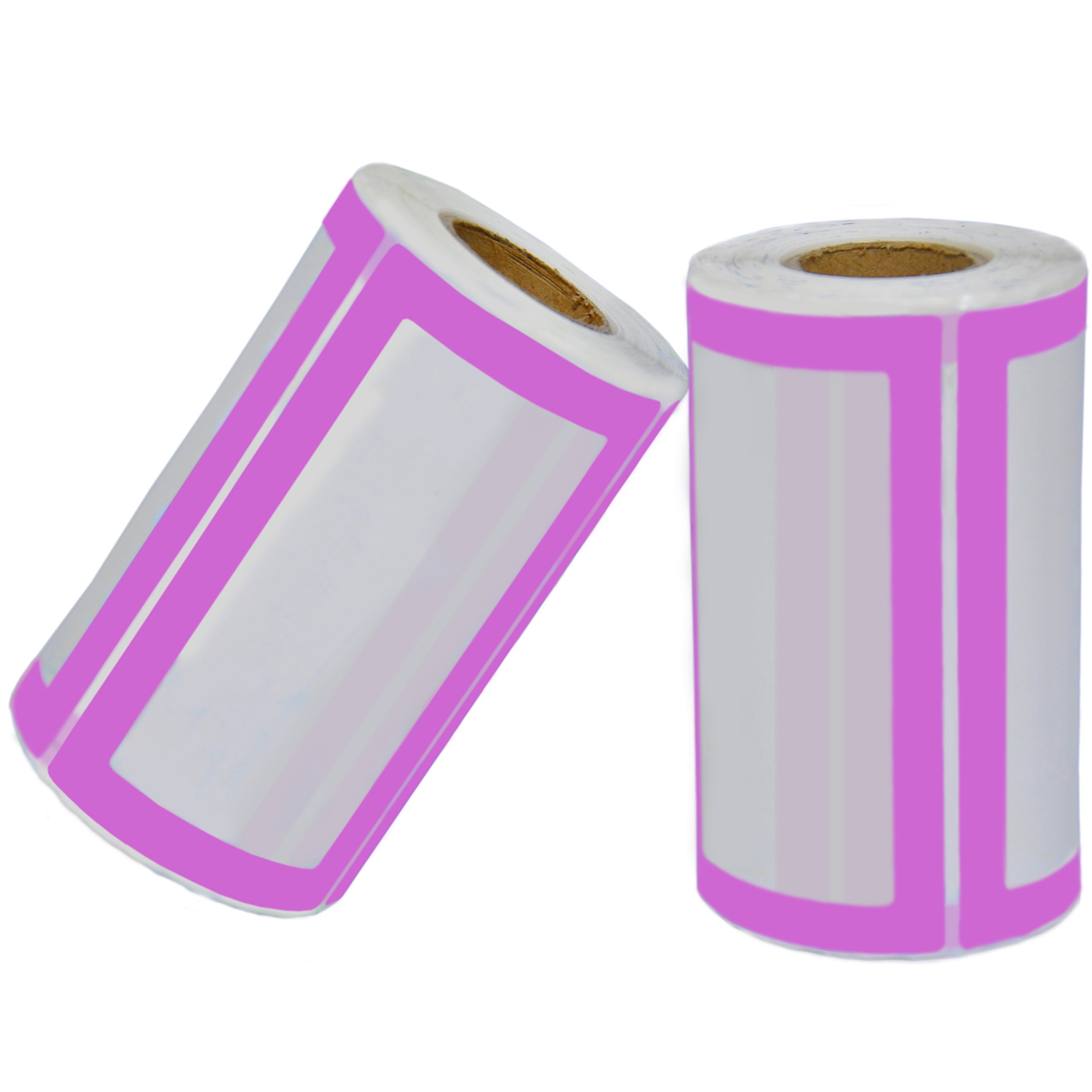 Colorful Plain Name Tag Labels - 2 Rolls 500 Stickers in Total - 3.5 x 2 inches - Nametags for Jars, Bottles, Food Containers, Folders, Birthday Parties and Kids Clothes (Purple/Purple 2 Pack) by Navy Penguin (Image #3)