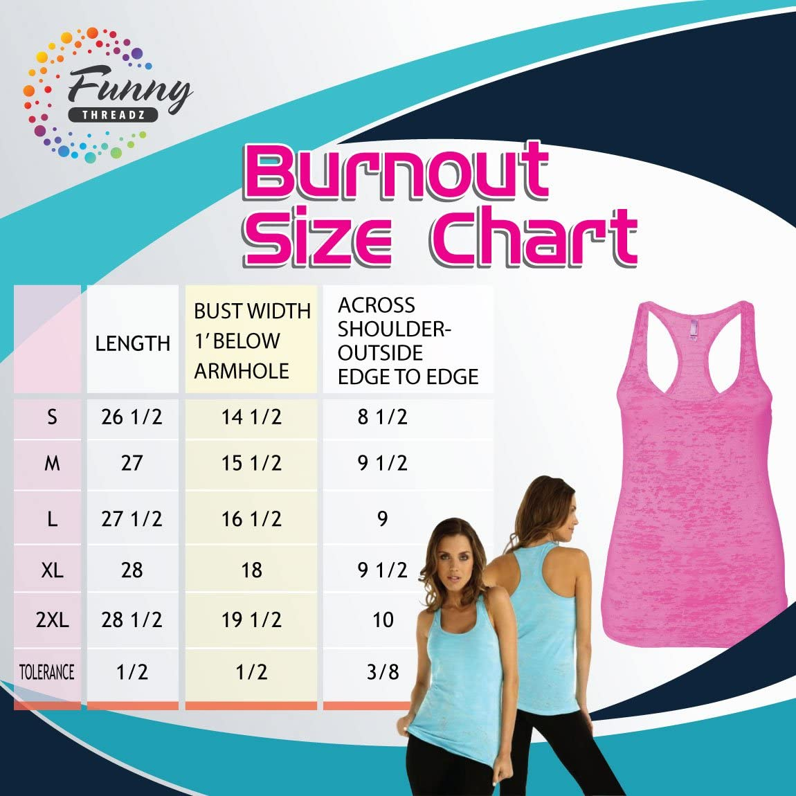"""Funny Threadz Womens Burnout Tank Top /""""Be Kind to One Another/"""" Inspirational Tank Top"""