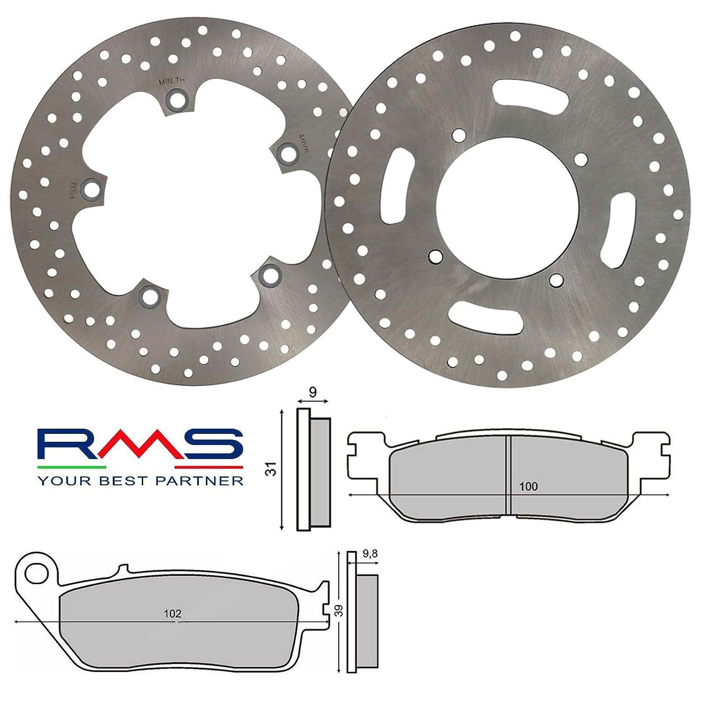 Kit complet disques plaquettes de frein rMS Yamaha X-Max 250 2010/2011