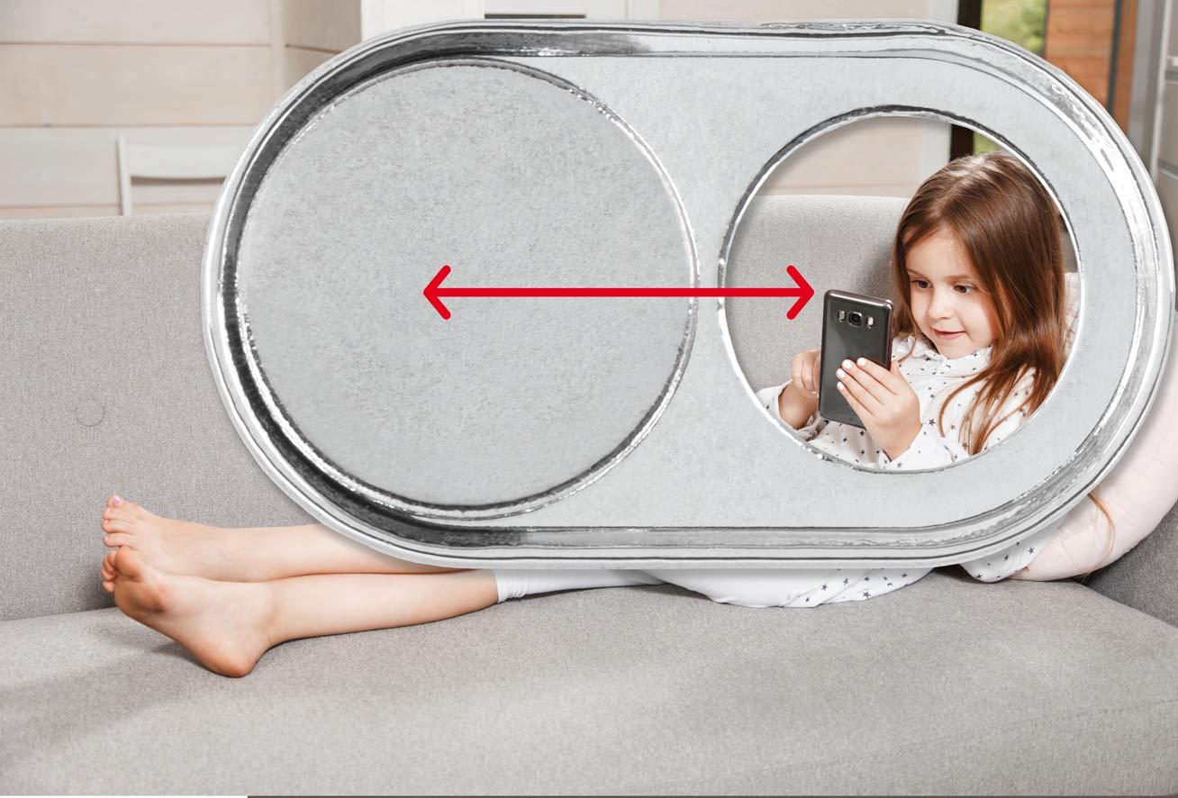 soomz.io La Original Cubierta Webcam Directamente del productor Suizo Funcional y Duradera Set de 2 Acero Resistente Negro Mate con impresi/ón!