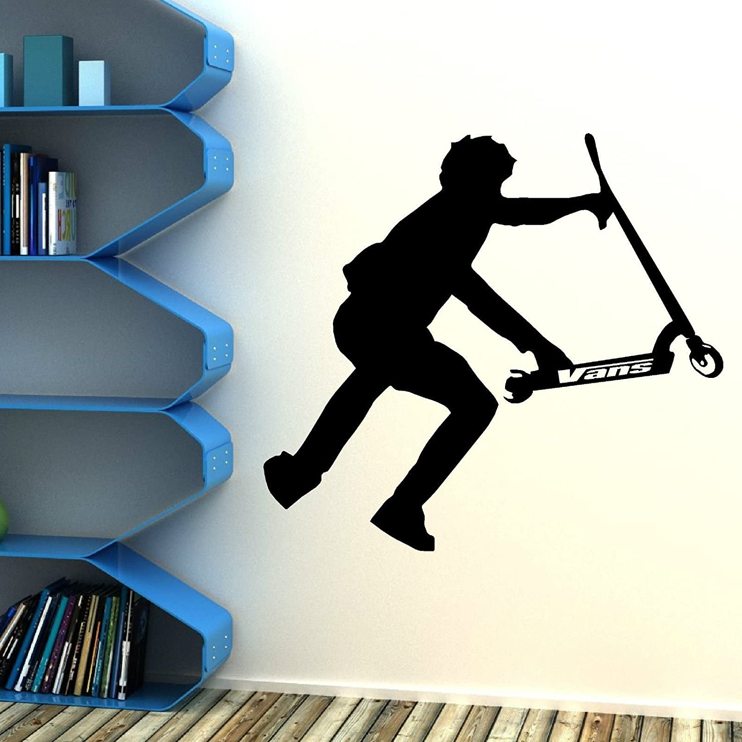 Amazon huanyi stunt scooter wall art vinyl room sticker amazon huanyi stunt scooter wall art vinyl room sticker transfer decal childrens bedroom home kitchen amipublicfo Gallery