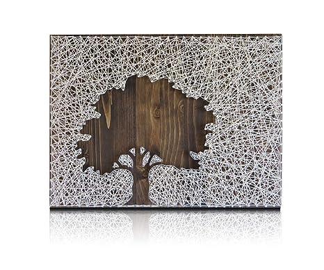 Diy String Art Kit Oak Tree String Art Diy Kit Includes All Supplies Craft Kit For Adults String Art Pattern Lake House Decor Hanging Wall