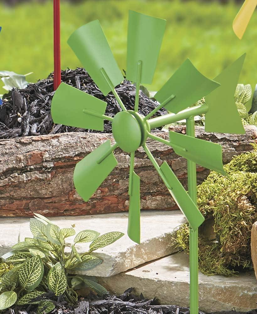 Estaca de Molino de Viento Colorida, Color Verde: Amazon.es: Jardín