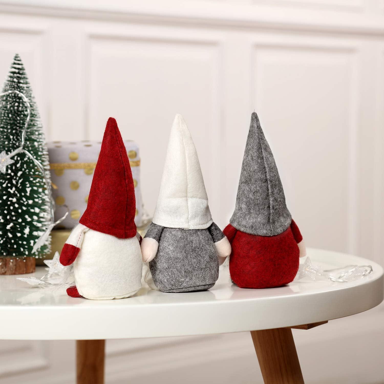 BESTOYARD Poup/ée No/ël P/ère No/ël D/écoration Table Noel Fournitures de f/ête Noel Cadeau No/ël pour Enfants Gris Taille S