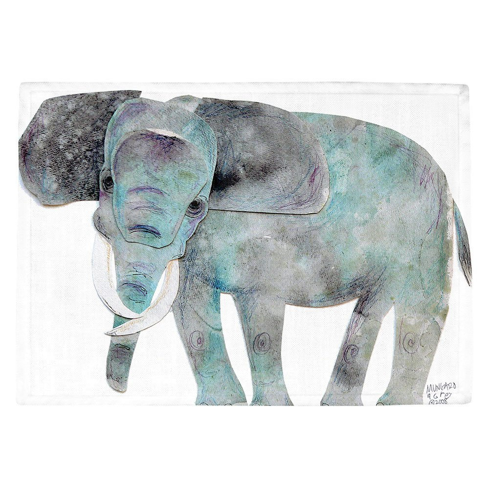 DIANOCHEキッチンPlaceマットby Marley Ungaro – Elephant Set of 4 Placemats PM-MarleyElephant2 Set of 4 Placemats  B01EXSJQKE