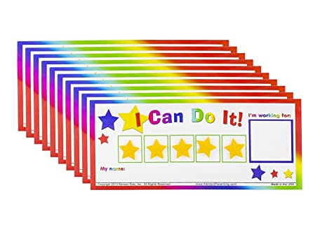 Kenson Kids I Can Do It! Reward Chart Token Board Classroom Pack (10) New!