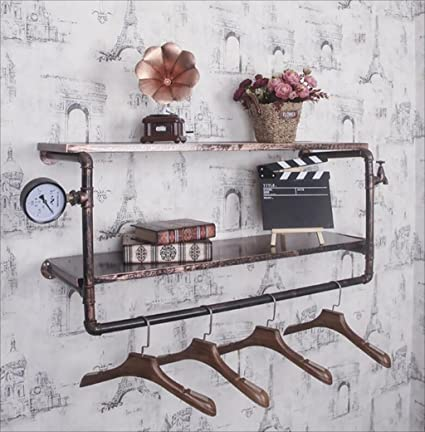 Amazon Com Fafz Wall Mount Storage Shelf Vintage Loft Iron Hose