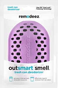 remodeez Trash Can Diaper Pail Recycling Bin Deodorizer Eliminator Odor Absorber-Nontoxic Coconut Activated Charcoal, Purple