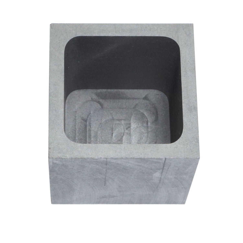 Pure grafito crisol refinado fundición lingote mold para metales oro plata cobre de aluminio (2 FL OZ): Amazon.es: Bricolaje y herramientas