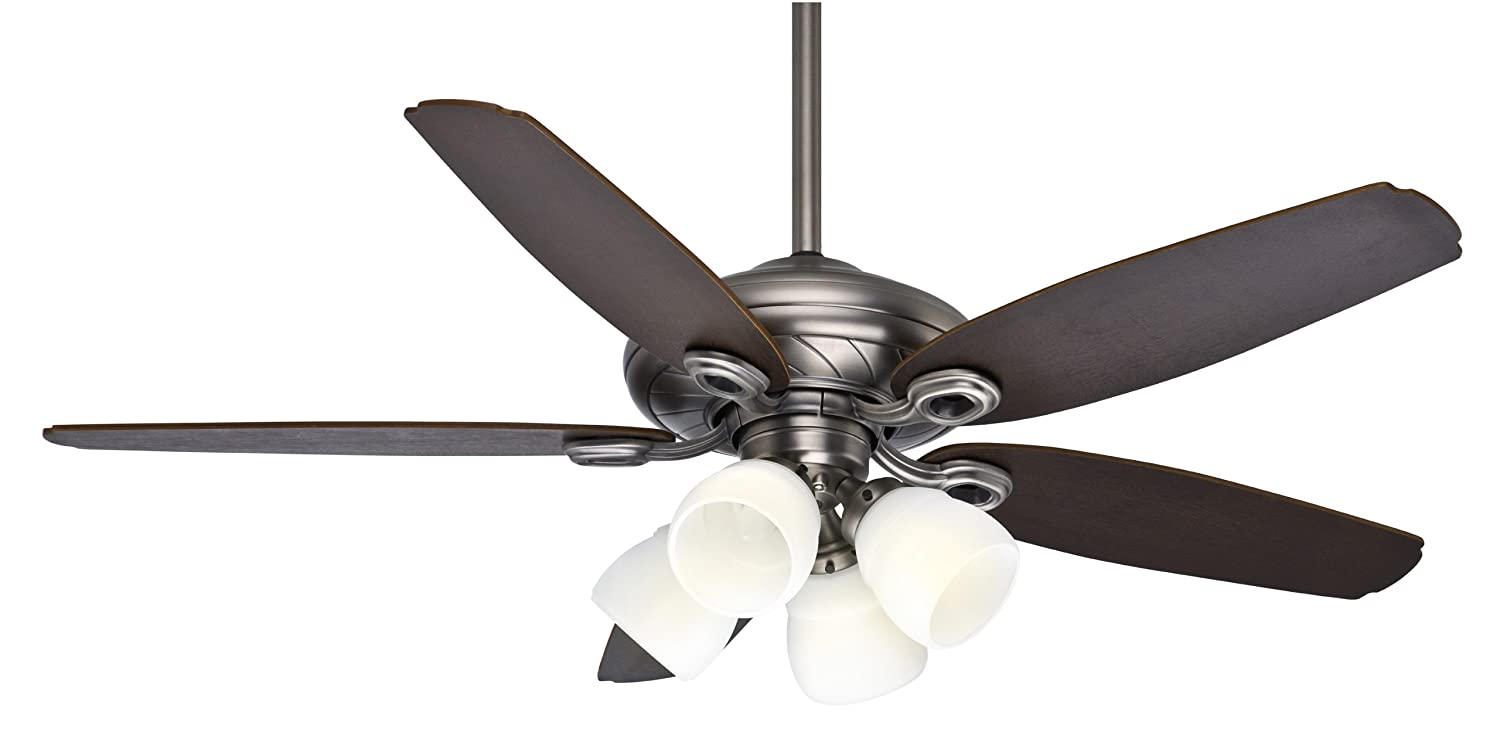 Casablanca 54032 capistrano gallery 52 inch 5 blade 4 light ceiling casablanca 54032 capistrano gallery 52 inch 5 blade 4 light ceiling fan antique pewter with smoked walnutmedium chestnut blades and cased white glass aloadofball Image collections
